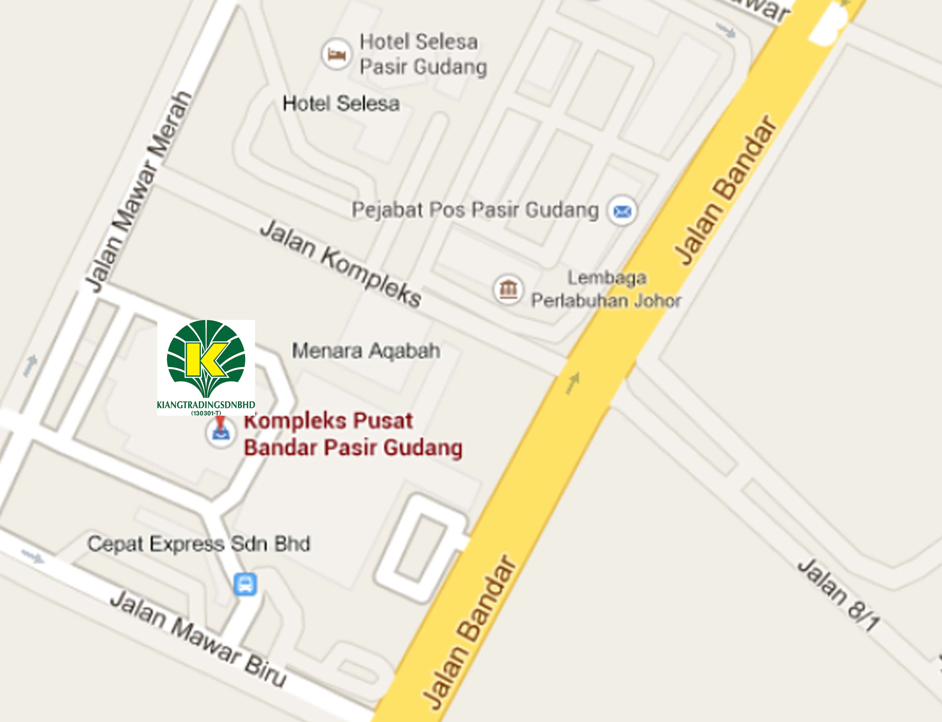 Map of Pasir Gudang Branch (with Gift Shop) branch
